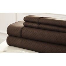 SoHo 4 Piece King Sheet Set in Chocolate