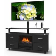 Galaxy TV Stand with Electric Fireplace