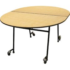Mobile Folding Cafeteria  Adjustable Height Elongated Table