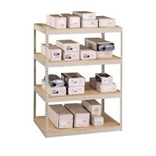 "Double Rivet 84"" H 3 Shelf Shelving Unit Starter"
