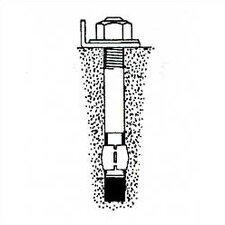 "Pallet Rack - Concrete Floor Anchor 1/2""-13 x 3-3/4"" (Set of 3)"