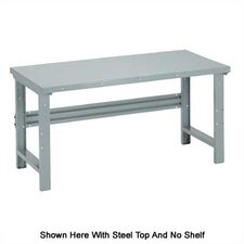 Open Height Adjustable Plastic Laminate Top Workbench