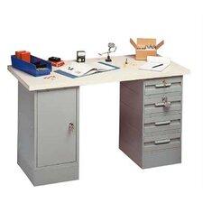 Modular Laminated Maple Hardwood Top Workbench