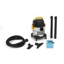 4 Gallon 2.5 Peak HP Portable Stainless Steel Wet/Dry Vacuum