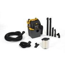 5 Gallon 5.0 Peak HP Portable Wall Mount Wet / Dry Vacuum