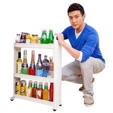 3 Shelf Movable Storage Rack