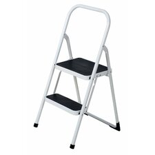 Folding Lightweight 2-step Step Stool Ladder with 300 lb. Load Capacity