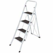 4-Step Aluminum Folding Lightweight Step Stool with 300 lb. Load Capacity