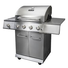 4-Burner 52,000-BTU Gas BBQ Grill with Side Burner and Electronic Pulse Ignition