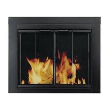 Ascot Fireplace Screen and Bi-Fold Track-Free Glass Door