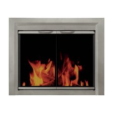 Colby Cabinet Style Fireplace Screen and Smoked Glass Door