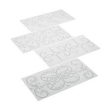 4 Piece Classic Fondant Imprint Mat Set