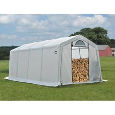 10 Ft. W x 20 Ft. D Polyethylene Firewood Storage Shed