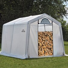 10 Ft. W x 10 Ft. D Polyethylene Firewood Storage Shed