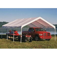 "18' x 20' Super Max 2"" Frame 8 Leg Canopy with White Cover"