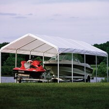 "18' x 30' Super Max 2"" Frame 12 Leg Canopy with White Cover"