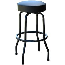 Retro Home Backless Swivel Bar Stool with Cushion