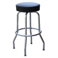 "Retro Home 24"" Swivel Bar Stool with Cushion"