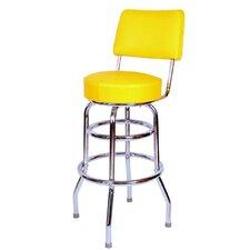 "Retro Home 30"" Swivel Bar Stool with Cushion"