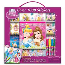 Disney Princess Sticker Box with Handle