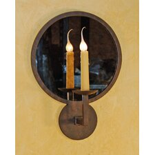 Round Mirror Wall Sconce