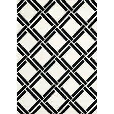 Palette White/Black Area Rug