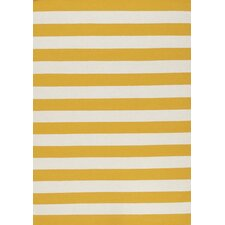 Yellow Stripe Area Rug
