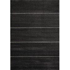 Black Four Lines Area Rug