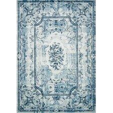 Platinum Traditional White/Blue Area Rug