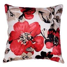 Oppy Flower Accent Throw Pillow