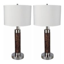 """Rafael 26"""" H Table Lamp with Drum Shade (Set of 2)"""