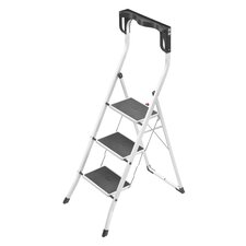 Safety Plus 3-Step Steel Step Stool with 330 lb. Load Capacity