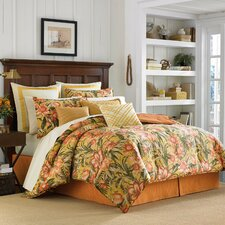 Tropical Lily 4 Piece Comforter Set