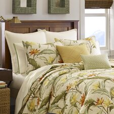 Birds of Paradise Quilted Standard Sham