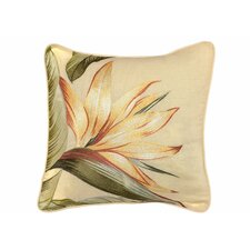 Birds of Paradise Embroidered Throw Pillow