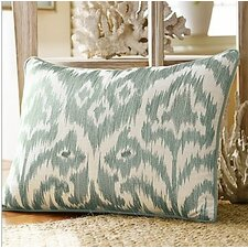 Bamboo Breeze Ikat Embroidered Lumbar Pillow