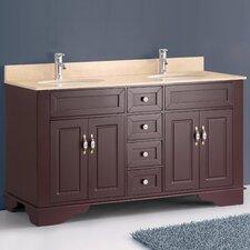 """Classic 59"""" Double Bathroom Vanity Set"""