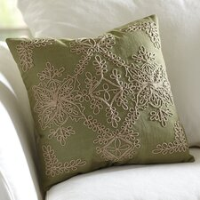Mia Embroidered Cotton Pillow Cover