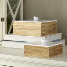Finch Keepsake Boxes (Set of 2)