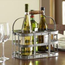 Galvanized 6-Bottle Tabletop Wine Rack