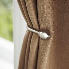 Brushed Nickel Drapery Curtain Holdback