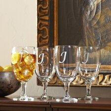 Monogrammed Water Goblets (Set of 4)