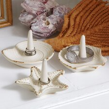 Sea Island 3-Piece Ring Holder Set