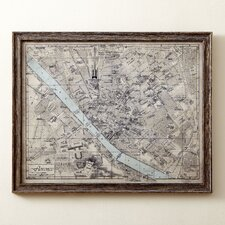 Sepia Florence Map Framed Print