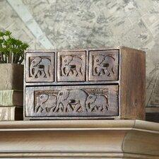 Evita Carved Apothecary Box