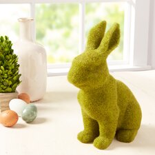 Faux Moss Bunny Decor