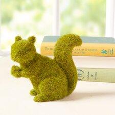 Faux Moss Squirrel Decor