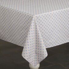 Abelle Tablecloth, Parchment & Blue