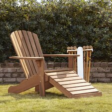 Vista Adirondack Chair with Built-In Ottoman