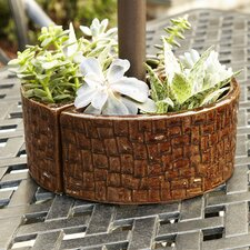 Stone Umbrella Planter, Brown